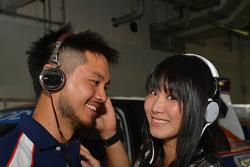 Charles Ng, BMW E90 320 TC, Liqui Moly Team Engstler and his girlfriend