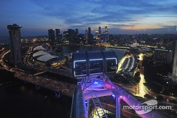Scenic skyline from the Singapore Flyer