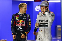 Sebastian Vettel, Red Bull Racing RB9 and Nico Rosberg, Mercedes AMG F1 W04