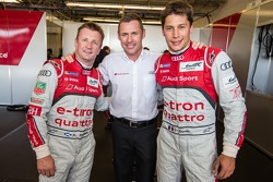 LMP1 pole winners Allan McNish, Tom Kristensen and Loic Duval