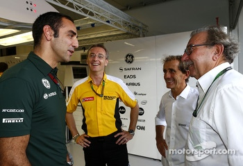 Cyril Abiteboul, and  Jean-Francois Caubet, Renault Sport F1 Managing Director