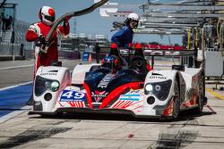 Pit stop for #49 Pecom Racing Oreca 03 - Nissan: Luis Perez-Companc, Nicolas Minassian, Pierre Kaffer