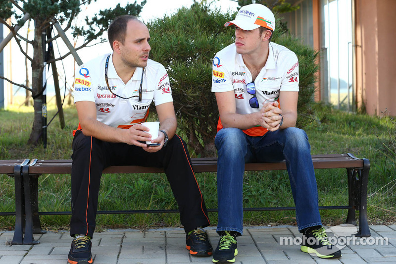 (L to R): Gianpiero Lambiase, Sahara Force India F1 Engineer with Paul di Resta, Sahara Force India F1