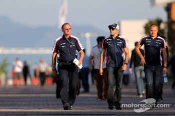 Pastor Maldonado, Williams F1 Team and Valtteri Bottas, Williams F1 Team