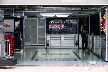 Red Bull Racing pit garage for Sebastian Vettel, Red Bull Racing
