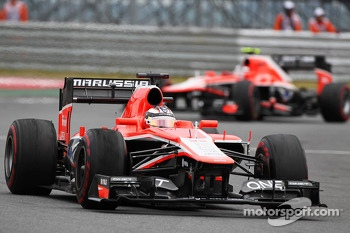 Jules Bianchi, Marussia F1 Team MR02 and team mate Max Chilton, Marussia F1 Team MR02
