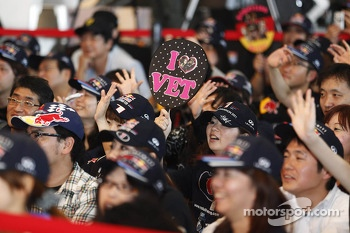 Fans wait for Sebastian Vettel appearance