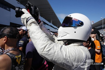 The Stig' in the pits