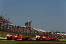 Felipe Massa, Ferrari F138 behind Fernando Alonso, Ferrari F138