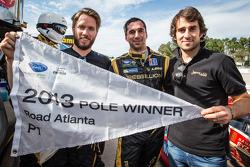 Pole winner Neel Jani with teammates Nick Heidfeld and Nicolas Prost