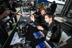 Nicolas Prost, Nick Heidfeld and Neel Jani