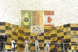 Championship podium: first place Mike Rockenfeller, second place Augusto Farfus, third place Bruno Spengler