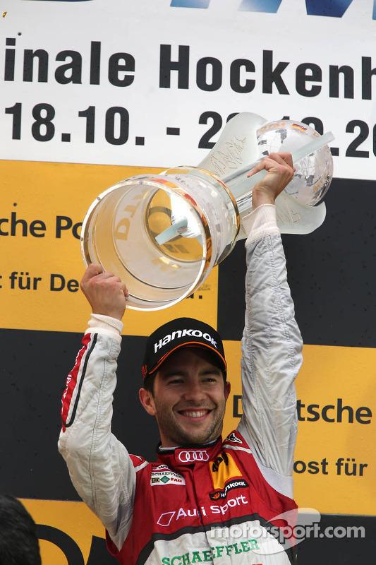 Championship Podium, 1st Mike Rockenfeller, Audi Sport Team Phoenix Racing Audi A5 DTM