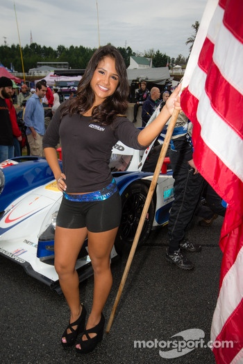 Dyson Racing flag girl