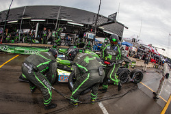 PIt stop for #02 Extreme Speed Motorsports HPD ARX-03b HPD: Ed Brown, Johannes van Overbeek, Rob Bell