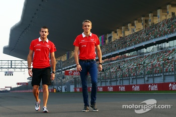 (L to R): Jules Bianchi, Marussia F1 Team with Max Chilton, Marussia F1 Team