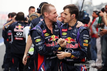 Red Bull Racing celebrate at the end of the race
