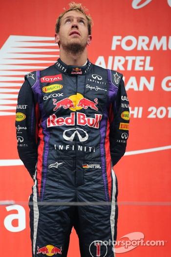 Race winner and World Champion Sebastian Vettel, Red Bull Racing