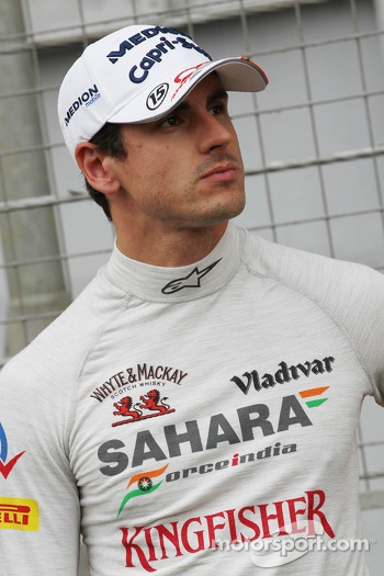 Adrian Sutil, Sahara Force India F1 on the grid