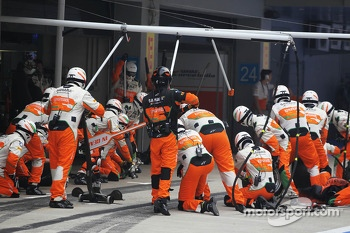 Sahara Force India F1 Team make a pit stop