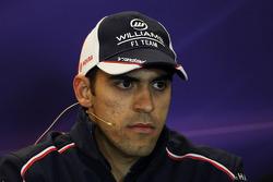 Pastor Maldonado, Williams in the FIA Press Conference