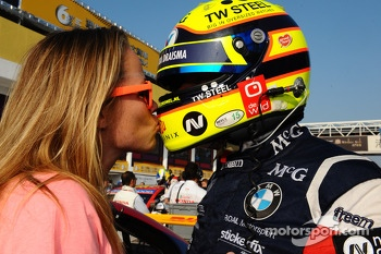 Tom Coronel, BMW E90 320 TC, ROAL Motorsport with his wife