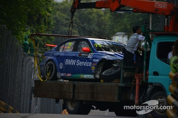 Fredy Barth, BMW 320 TC, Wiechers-Sport after the crash