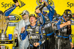 Championship victory lane: champagne shower for Chad Knaus