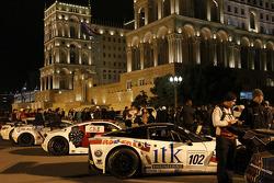 Downtown Baku night parade