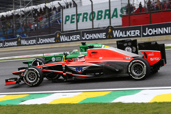 Jules Bianchi, Marussia F1 Team MR02 and Charles Pic, Caterham CT03 at the start of the race