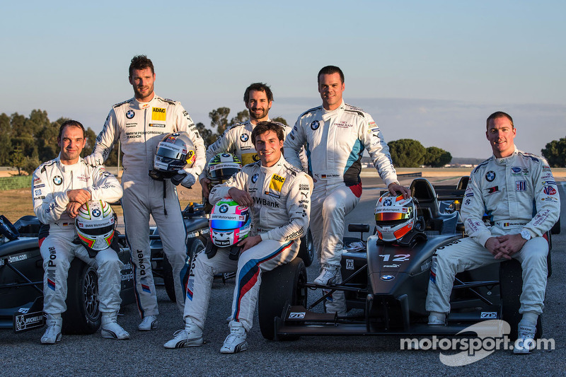Jorg Muller, Martin Tomczyk, Timo Glock, Bruno Spengler, Dirk Muller and Maxime Martin