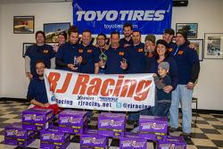 Class winners #23 RJ Racing Mazda Miata: Gary Browne, Roger Eagleton, Rob Gibson, John Gibson