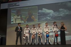 The 2014 Porsche LMP1 drivers are announced: Mark Webber, Romain Dumas, Neel Jani, Timo Bernhard, Marc Lieb and Brendon Hartley