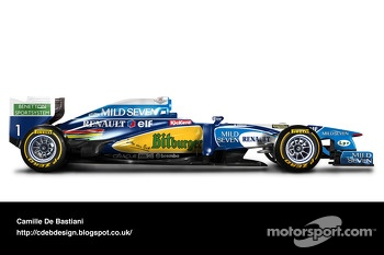 Retro F1 car - Benetton 1995
