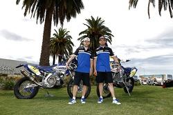 Yamaha riders Michael Metge, Cyril Despres