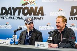Brad Keselowski, Team Penske Ford and Rusty Wallace