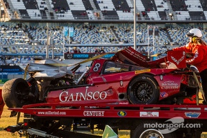 Badly wrecked #99 GAINSCO / Bob Stallings Racing Corvette DP Chevrolet