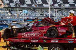 Badly wrecked #99 GAINSCO / Bob Stallings Racing Corvette DP Chevrolet