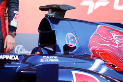 The new Scuderia Toro Rosso STR9 is unveiled: engine cover detail