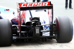 Jean-Eric Vergne, Scuderia Toro Rosso STR9 rear wing and rear diffuser detail
