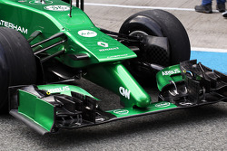Caterham CT04 front wing and nosecone detail