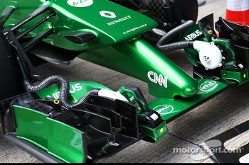Caterham CT05 front wing and nosecone detail