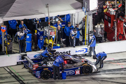 Pit stop for #60 Michael Shank Racing with Curb/Agajanian Riley DP Ford EcoBoost: John Pew, Oswaldo Negri, A.J. Allmendinger, Justin Wilson