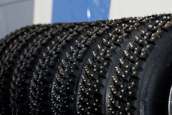 Studded snow tires