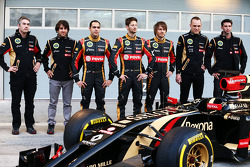 (L to R): Nicolas Prost, as the F1 E22 is officially unveiled