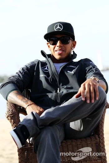 Lewis Hamilton, Mercedes AMG F1 on the beach