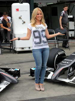 Jennifer Becks, girlfriend of Adrian Sutil, Sauber F1 Team