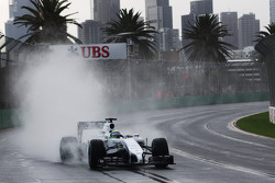 Felipe Massa, Williams FW36 controls a slide on the 'back straight'
