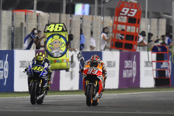 Valentino Rossi and Marc Marquez