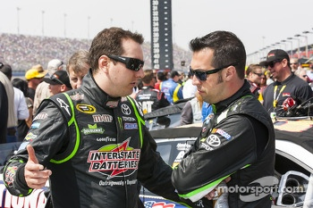 Kyle Busch and Sam Hornish Jr.